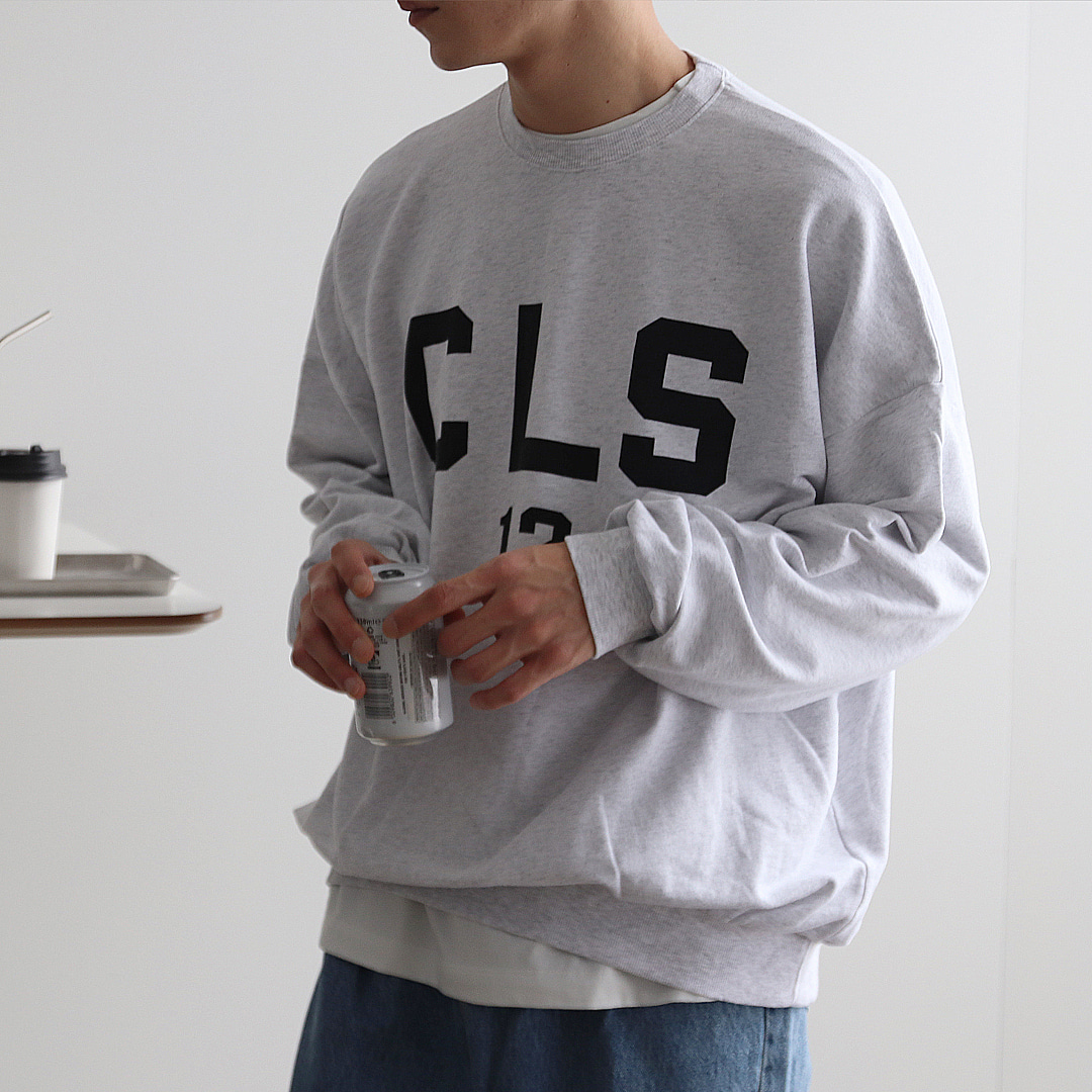 CLS 프린팅 오버핏 맨투맨 (4Color)